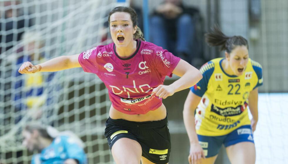 I STORFORM: Kari Brattset. Her fra et oppgjør mot Storhamar. Foto: Terje Pedersen / NTB scanpix