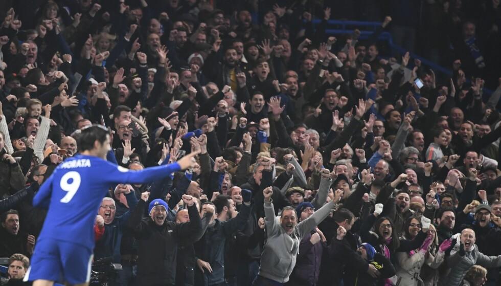 FUNNET SEG TIL RETTE: Alvaro Morata har fått en varm velkomst i Chelsea. Foto: Javier Garcia/BPI/REX/Shutterstock/NTB Scanpix