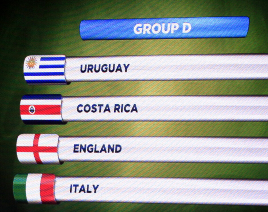 DØDENS GRUPPE: Italia havnet i gruppe med England og Uruguay i Brasil-VM på grunn av endring av reglene. Foto: REUTERS/Ricardo Moraes/NTB Scanpix