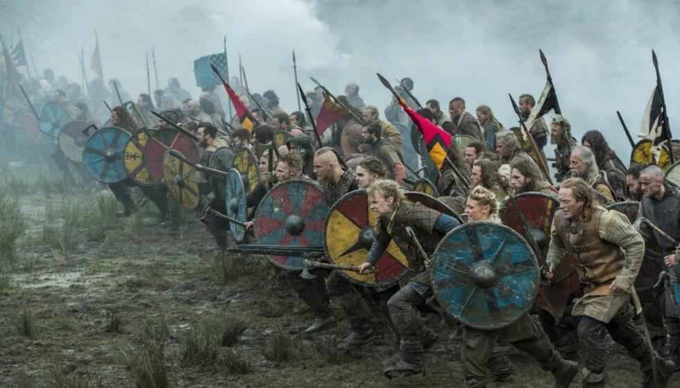 POPULÆRE TYPER: Serien «Vikings» er blitt en stor hit. Her er et promobilde fra nyeste sesong. Hittil er fire sesonger avviklet, mens to til er under produksjon.