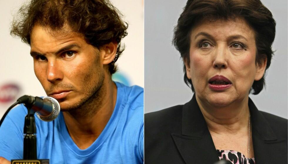 BLE ANKLAGET: Rafael Nadal vant rettsaken mot Roselyne Bachelot. Foto: NTB Scanpix