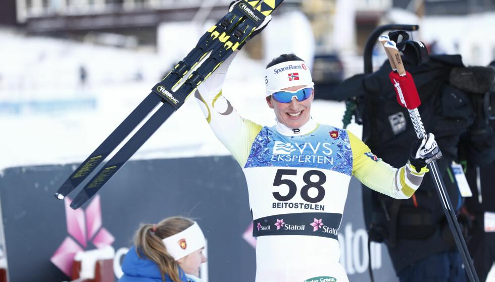 SUVEREN: Marit Bjørgen vant i suveren stil. Foto: Terje Pedersen / NTB scanpix