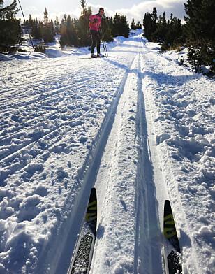 DRØMMEFORHOLD: Selv om snøen fortsatt ikke innbyr til skigåing i lavlandet, er det flotte forhold mange steder på fjellet i Sør-Norge. Foto: Olav Sand