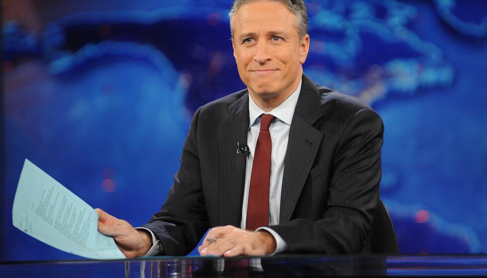 ANGRER: Tv-profilen Jon Stewart har visst om anklagene mot Louis C.K. i halvannet år. Han mener at kunne ha konfrontert humorkollegaen med ryktene. Foto: Brad Barket / NTB scanpix