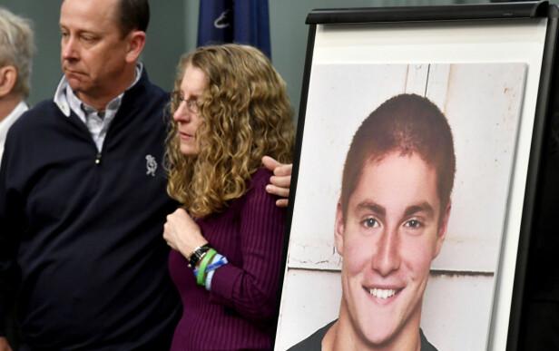 Timothys foreldre, Jim og Evelyn Piazza. Foto: Abby Drey / Centre Daily Times / AP / NTB Scanpix
