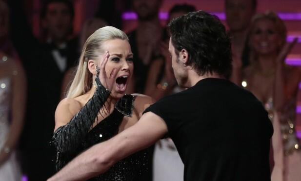 TROR PÅ UNG SEIER: Artist Hanne Sørvaag og danser Egor Filipenko vant finalen i 2012. I år tror hun 20 år gamle Cengiz Al vinner hele bøtteballetten. Foto: NTB scanpix