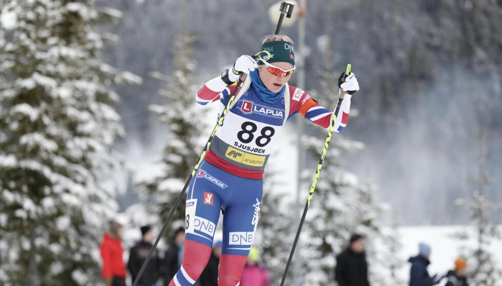 POSIITIV: Hilde Fenne ble beste norske under åpningsdistansen på Sjusjøen. Foto: Berit Roald / NTB scanpix