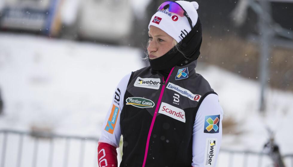 SKUFFET: Kathrine Rolsted Harsem fikk det ikke til å stemme på Beitostølen lørdag. Foto: Terje Pedersen / NTB scanpix