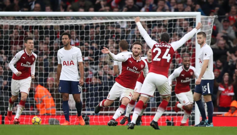 BEST MOT RIVALEN: Tottenham presser på for et regimeskifte i Nord-London, men i dag var Arsenal sterkest. Foto: NTB Scanpix