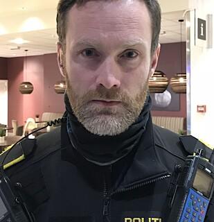 INNSATSLEDER: Politiets innsatsleder på stedet, Vigleik Fidje. Foto: Terje Myklevoll / Dagbladet