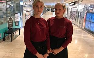 VITNER: Elise Larsen og Melissa Aanensen Nybakk jobber på et konditori rett ved stedet der mannen ble knivstukket. Foto: Terje Myklevoll / Dagbladet