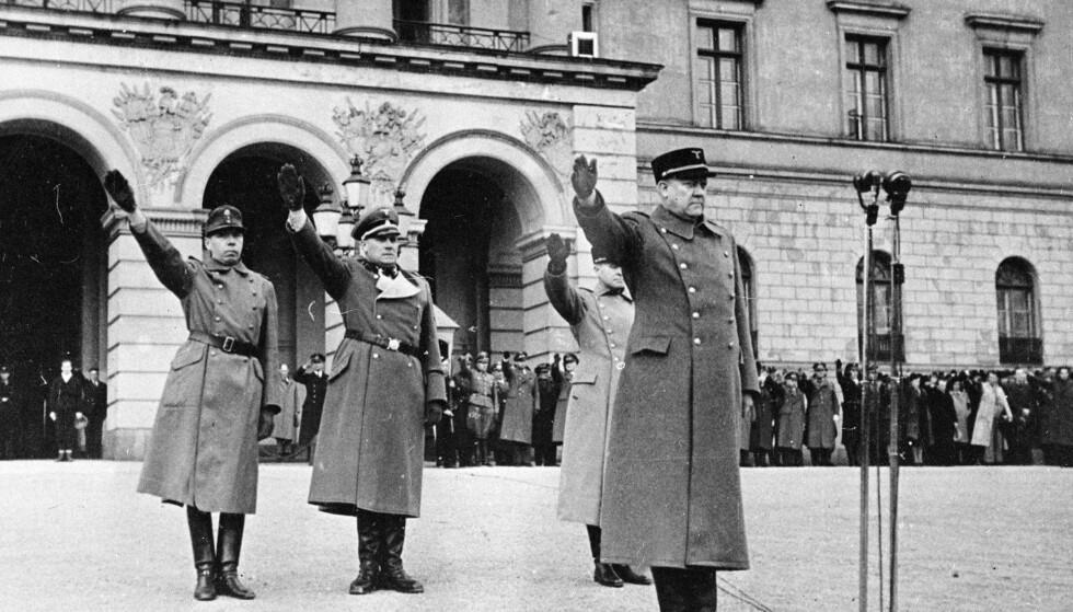 Frontkjempere: Vidkun Quisling sender nordmenn til Østfronten.