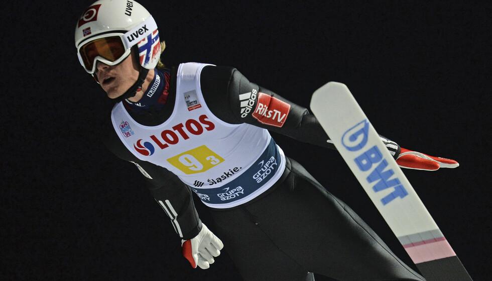 GAMMEL STORHET: - Han viste seg å være en gnist av den gamle storheten, skriver Thorvald Stoltenberg om skihopperen Daniel-André Tande. Foto: Alik Keplicz / AP / NTB Scanpix