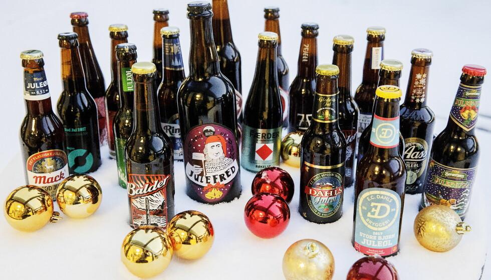 JULEØLTEST: «Kokos», «kaffe», «malt» og «hostesaft» var noen av smakene våre eksperter fant i årets test av juleøl med polstyrke.