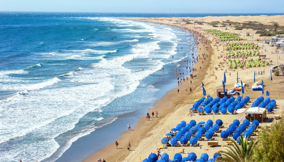 Eller hva med å ligge på denne stranden på Gran Canaria i vinter? Foto: NTB Scanpix