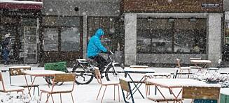 Syklist i vinteropplag