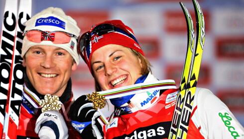 POLITIKK: Jens Arne Svartedal, her etter at han og Astrid Uhrenholdt Jacobsen vant VM-gull på sprinten i Sapporo, mener politikk spiller en viktig rolle i uttakene. Foto: ARNT E. FOLVIK/Dagbladet