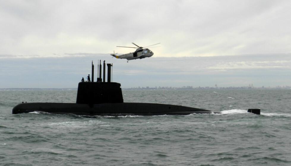 SAVNET: Ubåten San Juan, her fotografert i 2013, er fortsatt savnet.