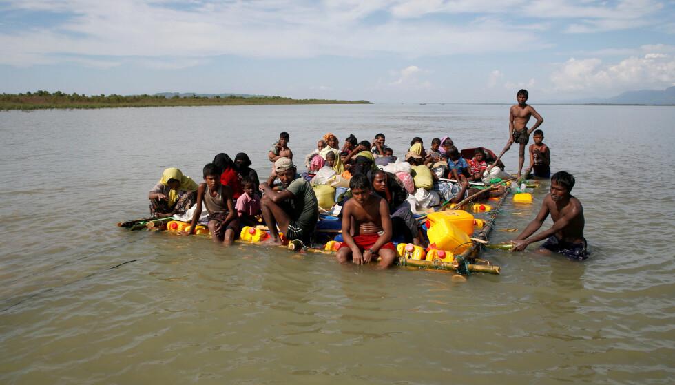 KRISE: Hundretusenvis av rohingyaer har flyktet fra Myanmar etter forfølgelser i landet. Foto: REUTERS/Navesh Chitrakar/NTB Scanpix