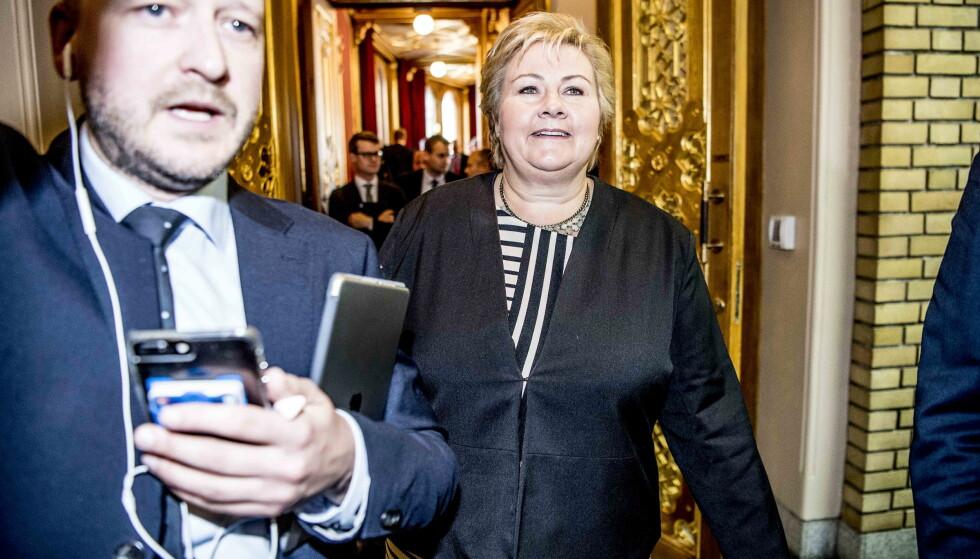 TAPTE: Erna Solberg landet et statsbudsjett for neste år, men hun måtte tåle å tape flere slag for å vinne krigen. Foto: Thomas Rasmus Skaug / Dagbladet