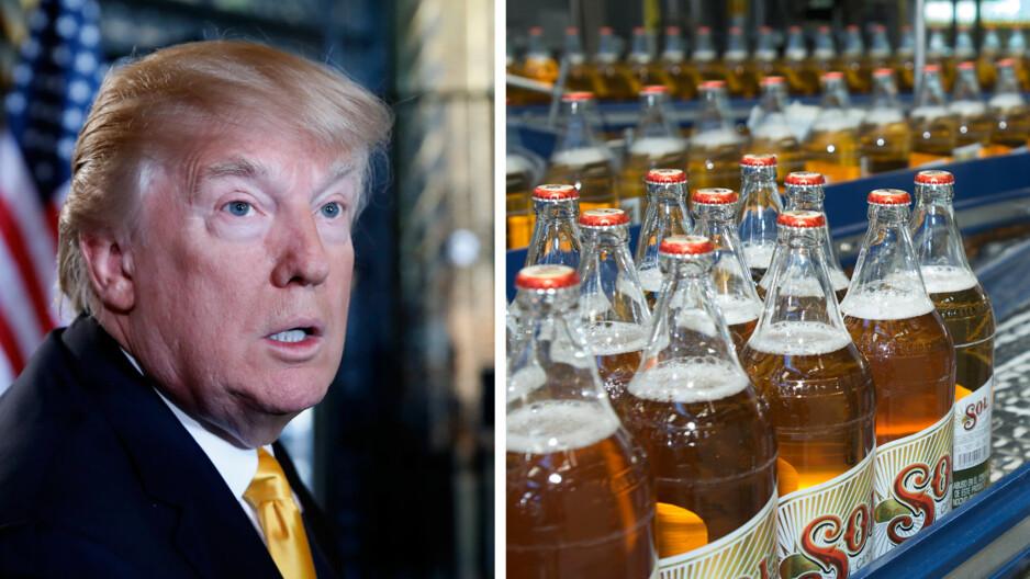 USA-BOIKOTT: Meksikanske ølprodusenter truer med å stoppe import av amerikansk bygg om Trump Foto: AFP/NTB Scanpix + Heineken