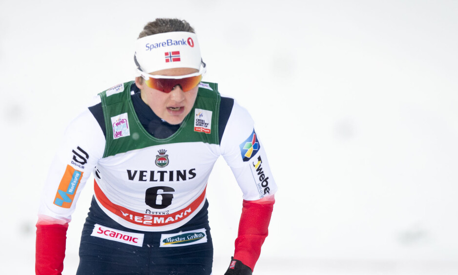 SINT: Ingvild Flugstad Østberg var mektig irritert på seg selv etter den skuffende sprintprologen. Kun to nordmenn avanserte. Foto: Terje Pedersen / NTB scanpix