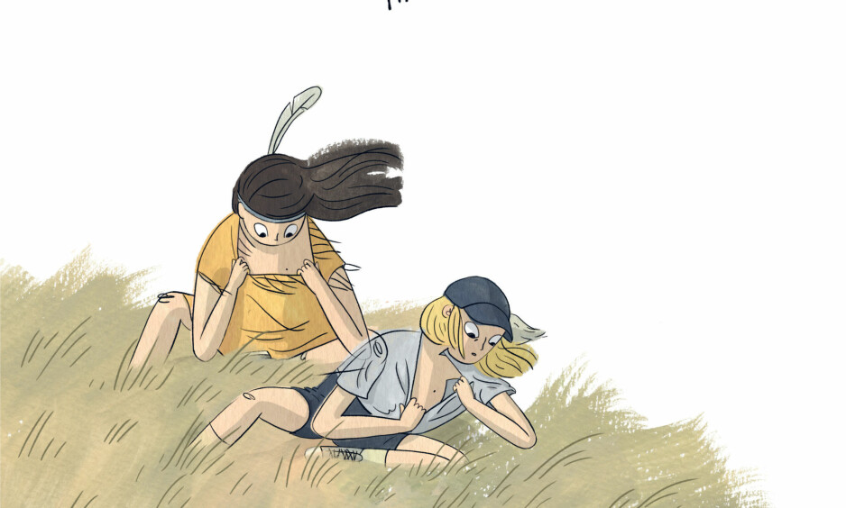 FORANDRINGER: I tegneserieboka «Hysj» opplever Hanna at ting har endret seg siden sommerferien året før, og hun sliter med å finne sin plass i det nye universet. Illustrasjon fra boka