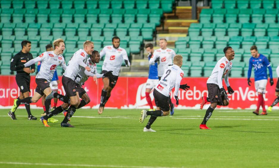 VILLE MINUTTER: Sogndal brukte seks minutter på å snu 2-2 til 5-2 i kampen mot Vålerenga. Foto: Christian Blom / NTB scanpix