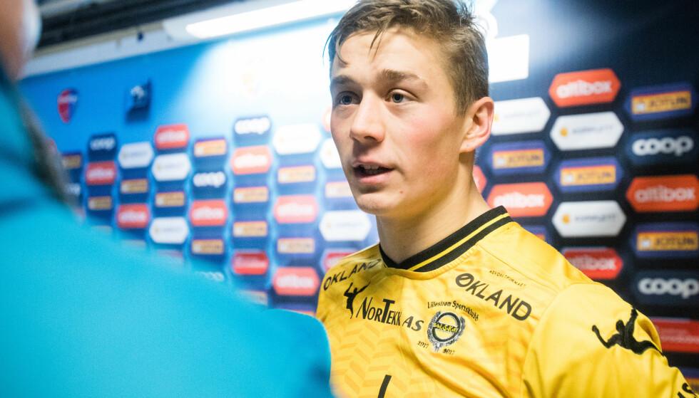 GOD KAMP: Lillestrøm passerte Sandefjord på tabellen da Fredrik Krogstad avgjorde kampen med to mål. Dermed endte kanarifuglene på en 12.-plass i årets eliteserie.   Foto: Audun Braastad / NTB scanpix