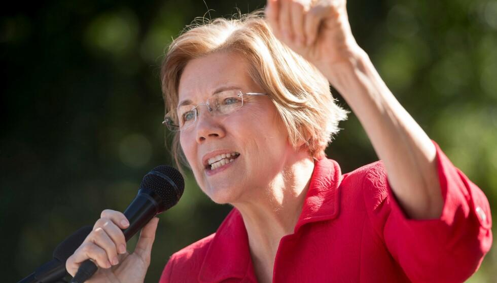 SLÅR TILBAKE: Elizabeth Warren har blitt latterliggjort av president Donald Trump for å ha hevdet at hun har indianerrøtter. Nå slår hun tilbake med en DNA-test. Foto: AFP PHOTO / SAUL LOEB / NTB scanpix