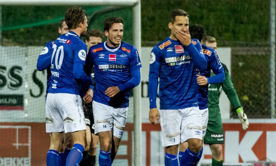 PÅ FRAMMARSJ: Ranheim slo både Sandnes Ulf og Mjøndalen i kvalifiseringen til Eliteserien. I kveld venter playoff mot Sogndal. Foto: Ned Alley / NTB scanpix