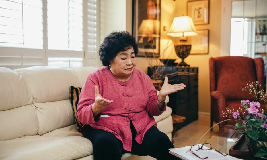 SKUFFET: Setsuko Thurlow overlevde atombomba USA slapp over Hiroshima i Japan i 1945. Hun er ikke nådig mot Erna Solberg. Foto: Johannes Worsøe Berg