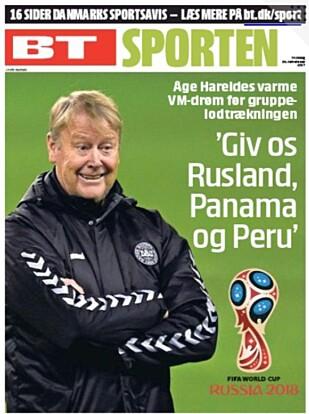 DRØMMEGRUPPE: - Gi oss Russland, Panama og Peru, sier Hareide til BT.