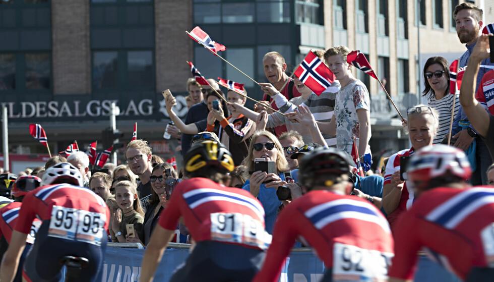 SYKKEL-VM: Sykkel-VM i bergen i fjor . Foto: Marit Hommedal / NTB scanpix