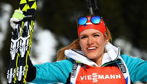 KRITISK: Tsjekkiske Gabriela Koukalova mener Anders Besseberg har gjort en dårlig jobb for å stoppe svindelen i skiskyting. FOTO AFP / Franck Fife.