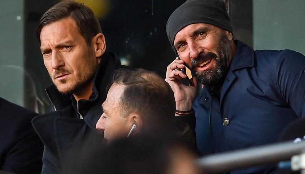 NY EPOKE: Francesco Totti (til venstre) har måttet legge om livet etter at han la opp som fotballspiller. Foto: NTB Scanpix