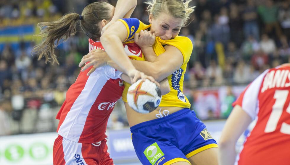 TAP: Sverige og Isabelle Gullden røk overraskende mot Polen i EgeTrans Arena lørdag. Foto: Vidar Ruud / NTB scanpix