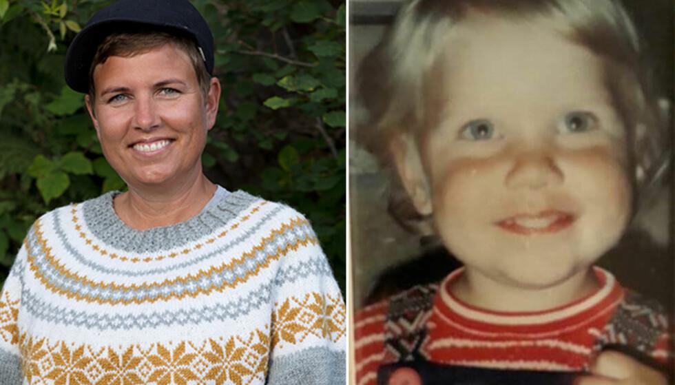 - SKØYERUNGE: Eunike Hoksrød (39) viser frem bilde der hun er to år gammel. Foto: TV 2 / Privat