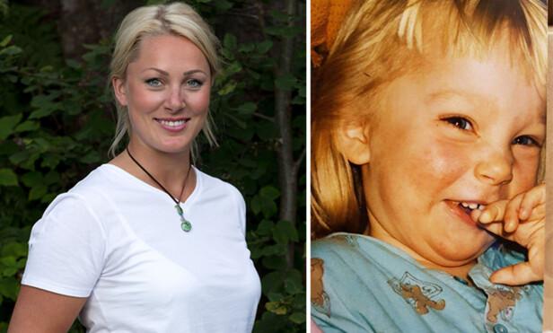 - BLIDFIS: Karianne Amlie Wahlstrøm (26) har gjort seg bemerket som en solstråle på skjermen. I bildet til høyre er hun avbildet to år gammel, og fortsatt like blid. Foto: TV 2 / Privat