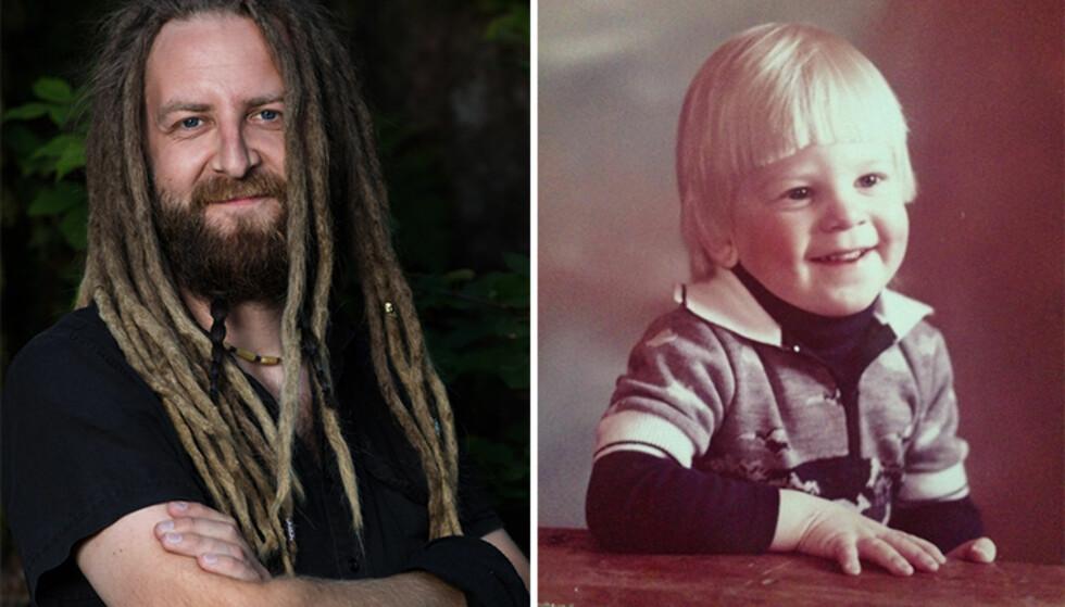GRINETE: Vidar forteller at han var veldig vanskelig og grinete som liten. Foto: TV 2 / Privat
