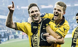 MÅLSCORERE: Frode Kippe og Mats Haakenstad. Foto: Christian Roth Christensen / Dagbladet