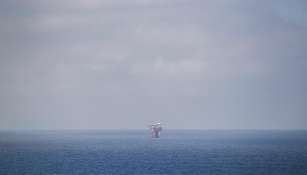 Oljeplattform: Nordflanken er en ubemannet plattform på Valhall-feltet i Nordsjøen. Valhall-feltet, som består av til sammen seks oljeplattformer, har hatt oljeproduksjon siden 1982. Anlegget har produsert over 1 milliard fat olje siden den gang og har som ambisjon å pumpe opp 500 millioner fat olje til før den stenges ned. Foto: Håkon Mosvold Larsen / NTB scanpix