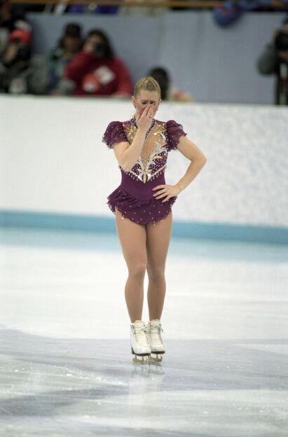 BRAST I GRÅT: Den amerikanske kunstløperen Tonya Harding brøt sammen etter at skøytelissa røyk. Hun ble nummer åtte sammenlagt. FOTO: Jon Eeg / NTB scanpix