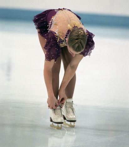 LISSE-TRØBBEL: Tonya Harding fikk blant annet problemer med skøytelissene under OL. FOTO: Jon Eeg / NTB scanpix