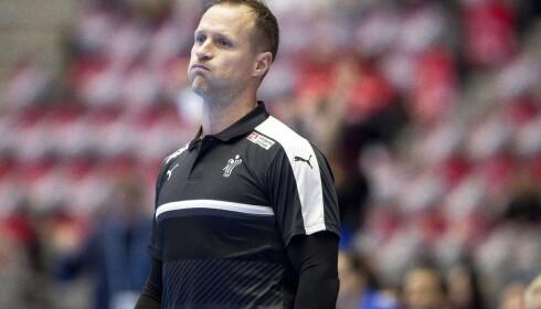 KRITISK: Danmarks trener Klavs Bruun Jørgensen. Foto: Carina Johansen / NTB Scanpix