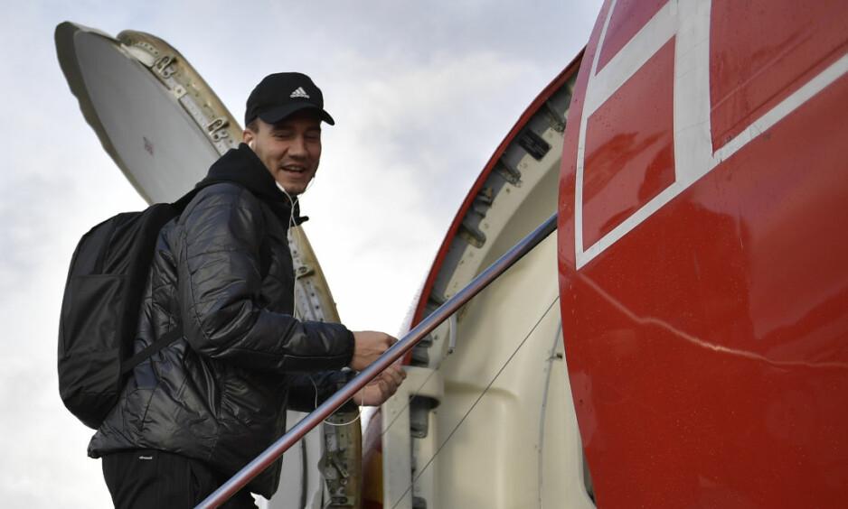 KRITIKK: Rosenborg får kritikk etter at de har besluttet å dra på treningsleir til Dubai. Her på vei til St. Petersburg for å møte Zenit. Foto: Ole Martin Wold / NTB scanpix