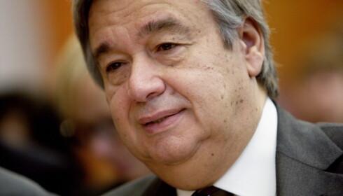 FN: Det finnes ingen plan B til tostatsløsningen, sa FNs generalsekretær António Guterres. Foto: Stian Lysberg Solum / NTB scanpix