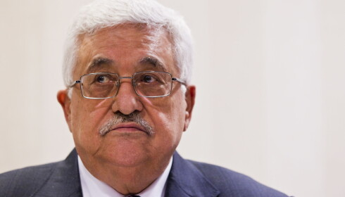 REAGERER: Den palestinske president Mahmoud Abbas reagerer kraftig på Donald Trumps beslutning. Foto: Vegard Grøtt / NTB scanpix
