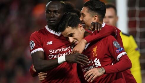 GLOHET: Philippe Coutinho og Liverpool lekte seg til gruppeseier etter storseier over Spartak Moskva. Foto: NTB Scanpix