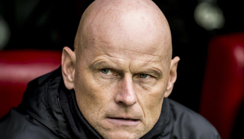 SKUFFENDE: Sesongen har vært en nedtur for Ståle Solbakken og hans FC København. Det fikk danske journalister merke etter tapet søndag. Foto: Mads Claus Rasmussen / Scanpix Denmark / NTB scanpix